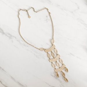 Stella & Dot Long gold necklace